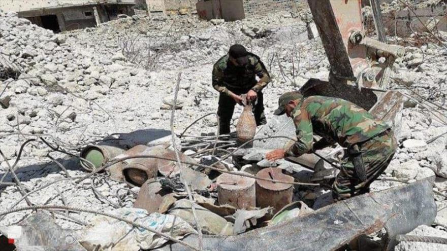 El taller de coches bomba de Daesh descubierto por las Al-Hashad Al-Shabi de Irak en la ciudad de Mosul (norte).