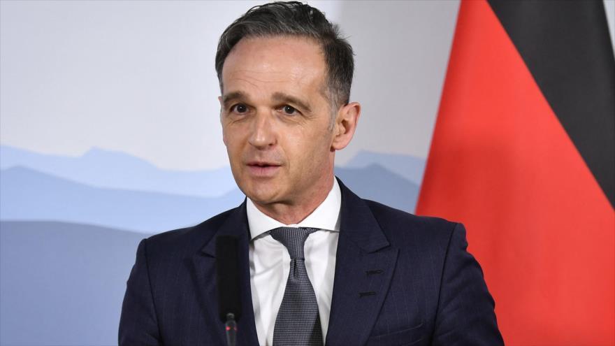 El ministro de Asuntos Exteriores de Alemania, Heiko Maas, asiste a una conferencia de prensa en Suiza, 16 de abril de 2021. (Foto: AFP)