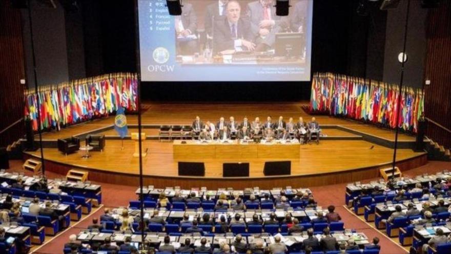 Una sesión extraordinaria de los Estados miembros de la Organización para la Prohibición de las Armas Químicas en La Haya, 26 de junio de 2018. (Foto: AFP)