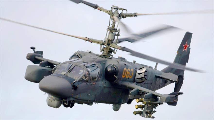 Vídeo: Helicóptero ruso sobrevuela base militar de EEUU en Siria