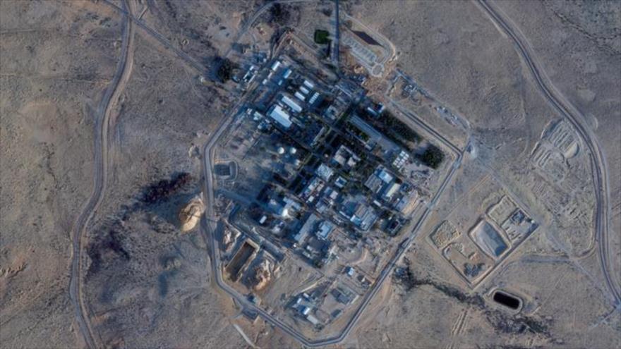 Foto satelital de la instalación nuclear israelí de Dimona.