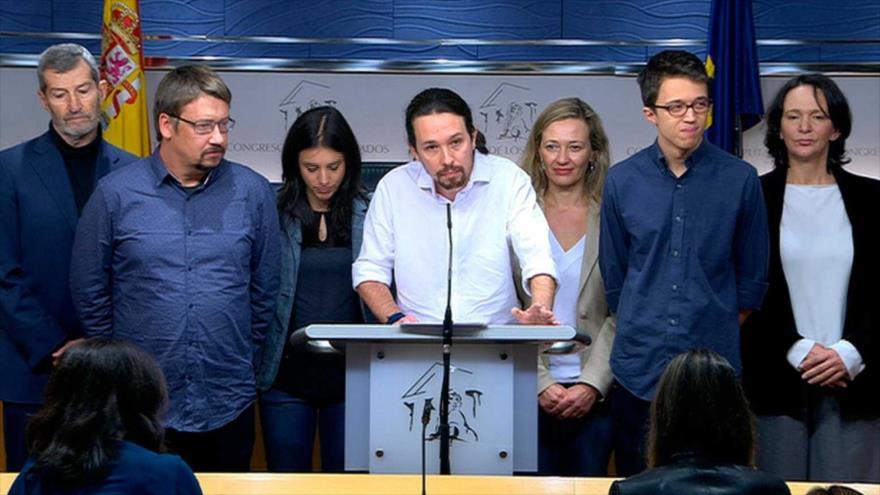 Líder de partido español Podemos denuncia amenaza de muerte