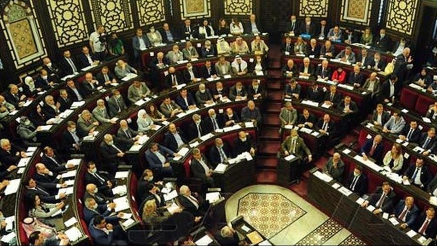 Una sesión extraordinaria del Parlamento sirio celebrado el 23 de abril de 2021. (Foto: SANA)