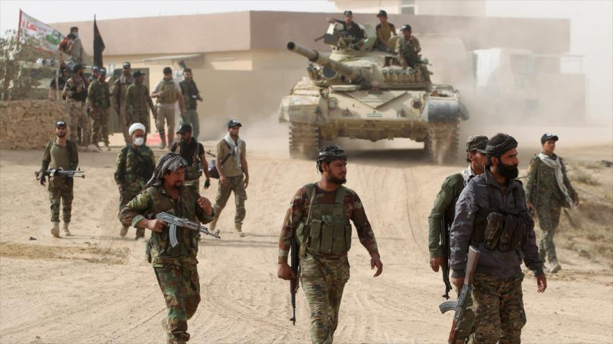 Fuerzas de las Unidades de Movilización Popular de Irak (Al-Hashad Al-Shabi, en árabe) durante una operación.