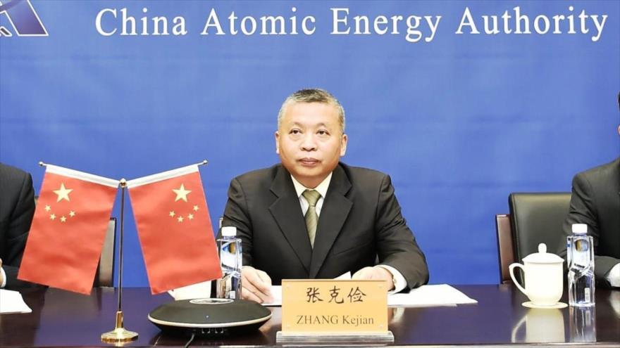 El director de la Administración Espacial Nacional China, Zhang Kejian.