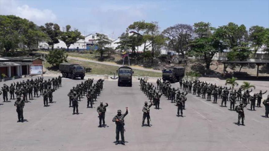 La Fuerza Armada Nacional Bolivariana (FANB) de Venezuela en la provincia de Apure.