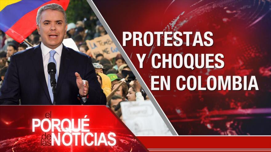 El Porqué de las Noticias: No a la injerencia. Tensión EEUU-Rusia. Protestas en Colombia
