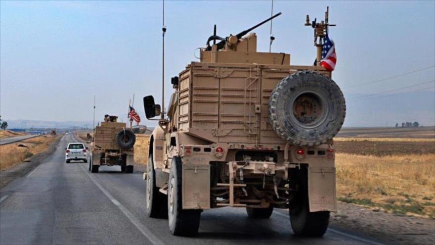 Un convoy militar de Estados Unidos en la ciudad de Dahuk, en la región del Kurdistán de Irak.