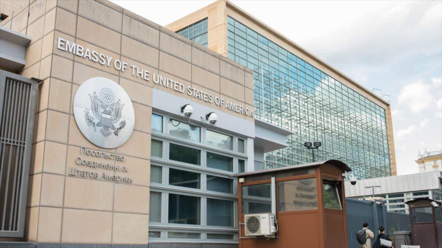 Una de las fachadas de la embajada de EE.UU. en Moscú, la capital de la Federación Rusa. (Foto: Getty Images)