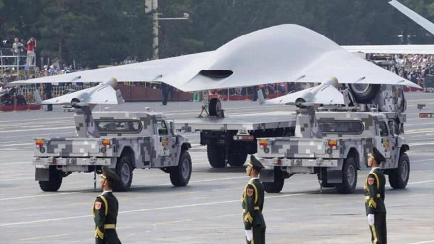 Un vehículo aéreo no tripulado del Ejército de China durante un desfile militar en Beijing, 1 de octubre de 2019. (Foto: Reuters)