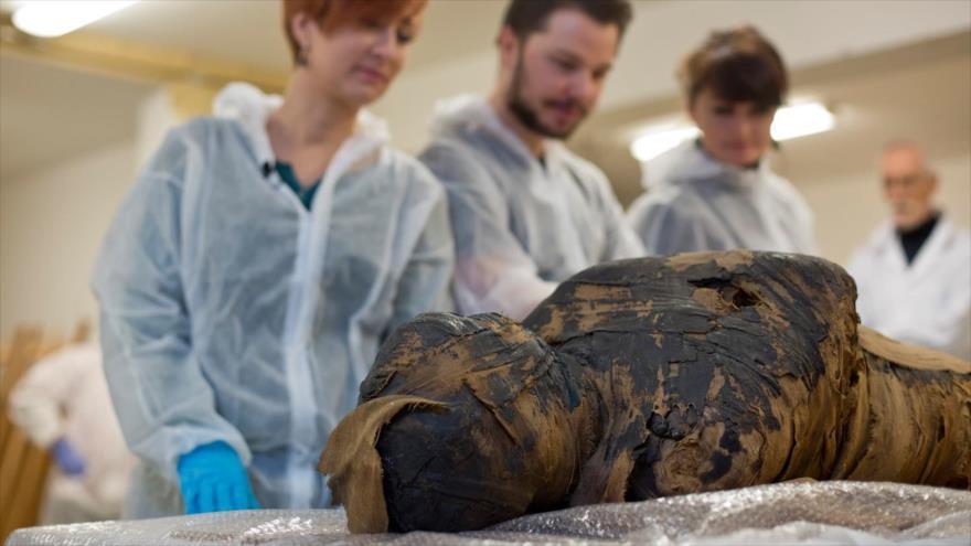 Investigadores polacos encontraron la momia en las tumbas reales de la antigua ciudad egipcia de Tebas.