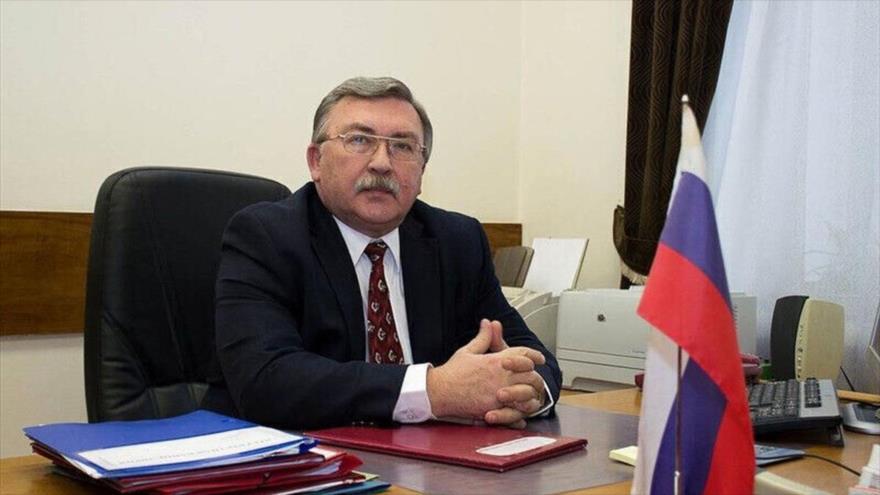 El representante permanente de Rusia ante las organizaciones internacionales radicadas en Viena, Mijaíl Ulianov.
