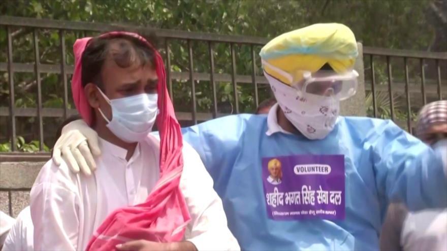 Empeora la crisis sanitaria por COVID-19 en La India