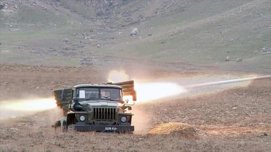 Un ejercicio militar de las Fuerzas Armadas de Kirguistán.