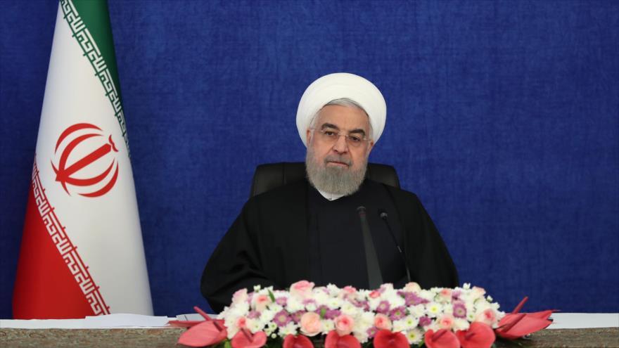 El presidente de Irán, Hasan Rohani, en una reunión en Teherán (capital), 1 de mayo de 2021. (Foto: president.ir)