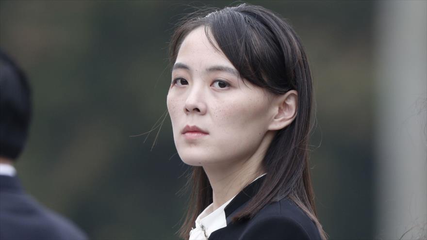Kim Yo-Jong, hermana del líder de Corea del Norte, Kim Jong-un, asistiendo a una ceremonia durante una visita a Hanói, 2 de marzo de 2019. (Foto: AFP)
