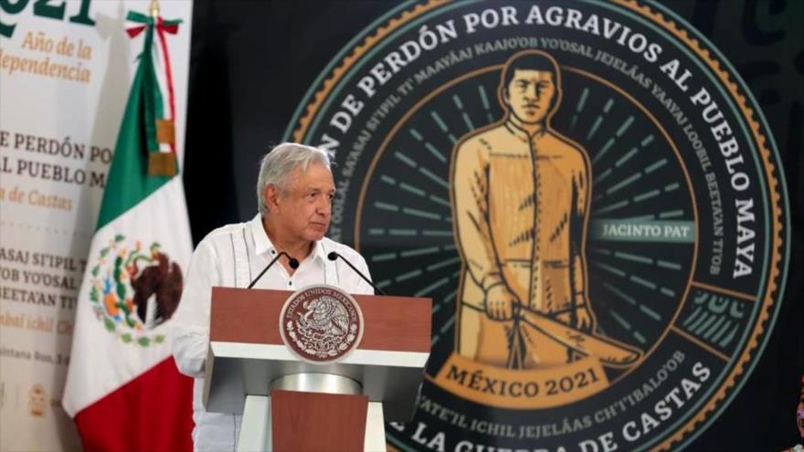 AMLO ofrece disculpas al pueblo maya por cinco siglos de abusos