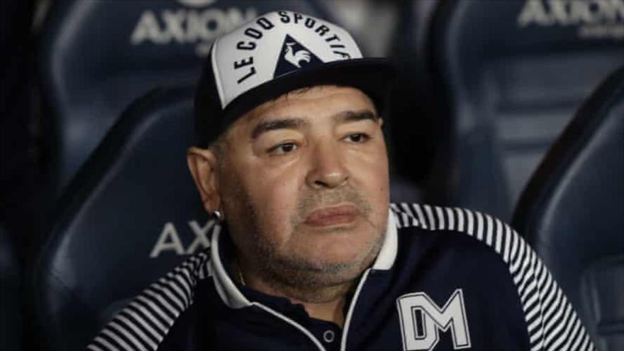 El astro del fútbol argentino, Diego Maradona.