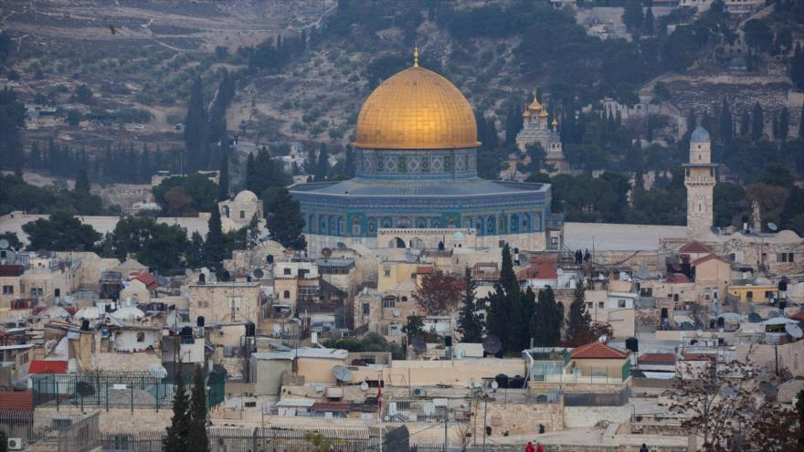 Una vista general de la Mezquita Al-Aqsa, en Al-Quds (Jerusalén).