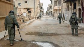 Ejército sirio avanza tareas de desminado en Damasco y Daraa