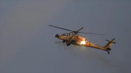 Un helicóptero israelí bombardea blancos sirios en Al-Quneitra