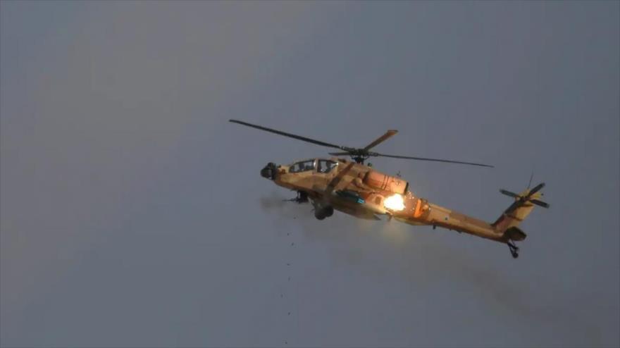 Un helicóptero militar israelí durante un ejercicio militar en 2016.
