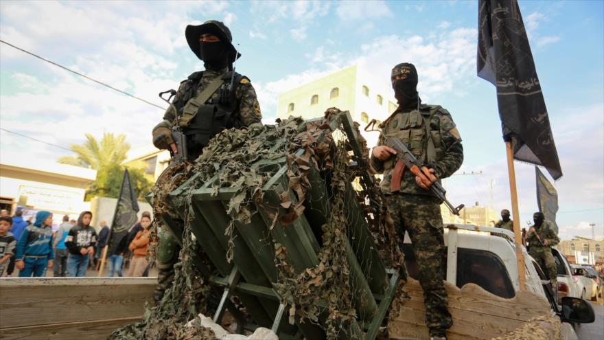 Milisile de las Brigadas de Al-Quds, brazo armado del Movimiento de la Yihad Islámica Palestina, en la Franja de Gaza, 15 de noviembre de 2018. (Foto: Flash90)