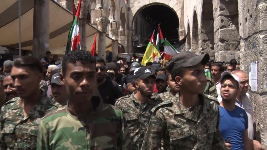 Se celebra el Día Internacional de Al-Quds en Siria