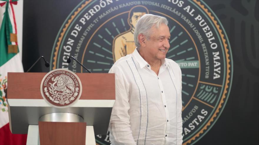 El presidente de México, Andrés Manuel López Obrador (AMLO), en una ceremonia el 4 de mayo 2021.