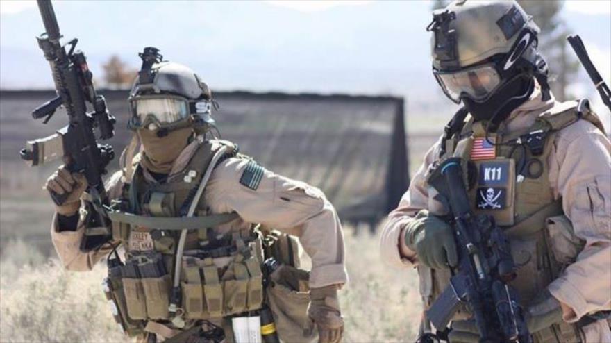 Dos miembros de las Fuerzas Especiales de Estados Unidos, conocidas como Delta Force.