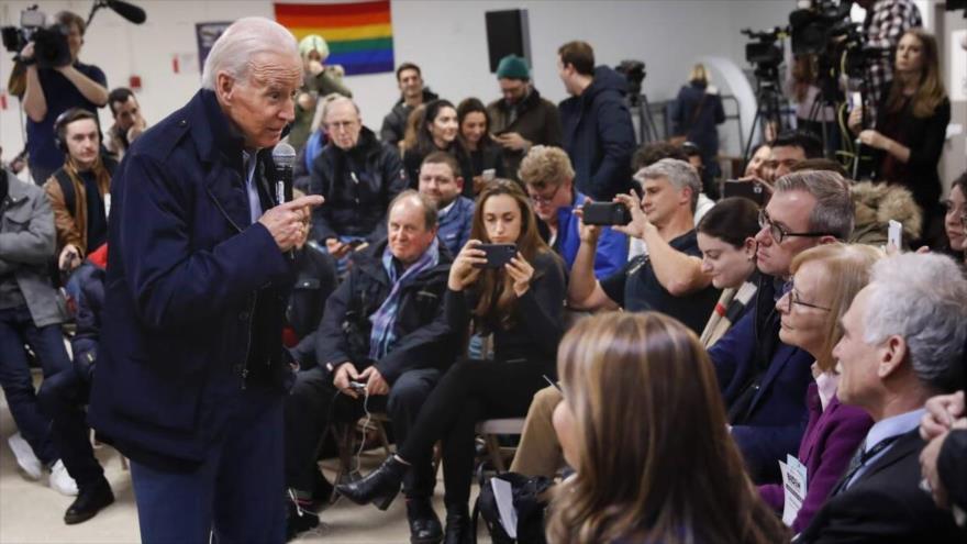El presidente de EE.UU., Joe Biden, responde a las preguntas de perriodistas en una rueda de prensa.