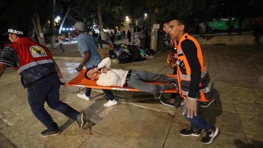 Más de 50 palestinos heridos por la represión israelí en Al-Quds   HISPANTV
