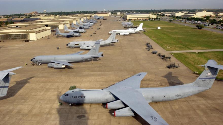 Varios aviones de la Fuerza Aérea de Estados Unidos estacionados en la pista de la base de la Fuerza Aérea Sheppard de Texas. (Foto: USAF)