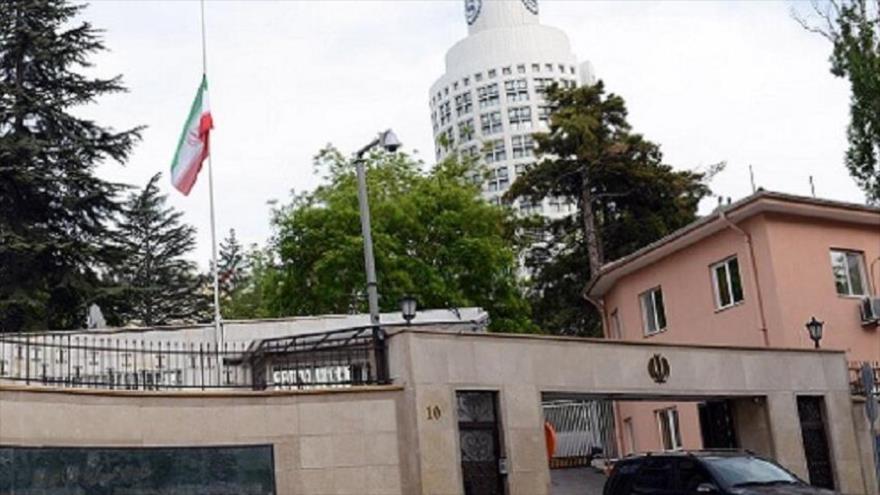 La embajada de Irán en Ankara, capital de Turquía.
