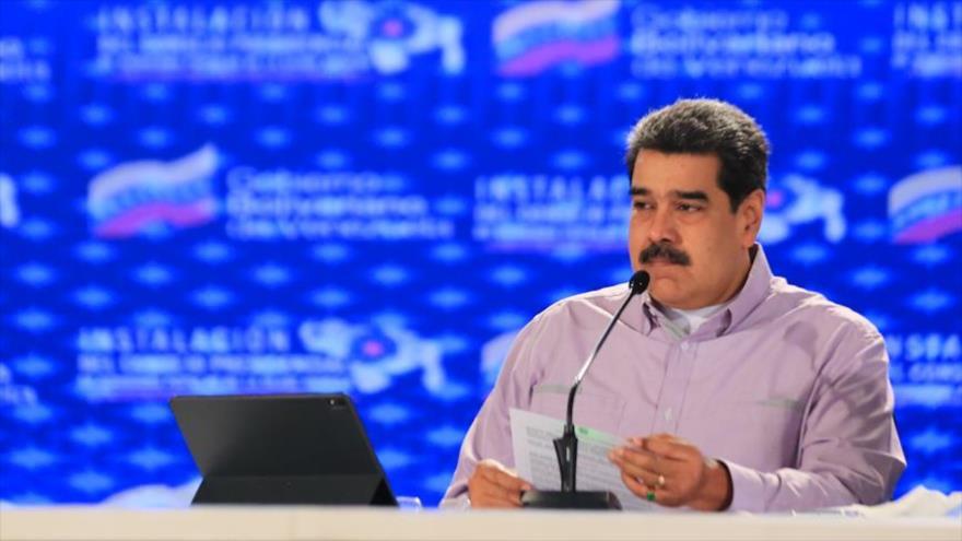 El presidente de Venezuela, Nicolás Maduro, en un acto en Caracas, 8 de mayo de 2021. (Foto: @PresidencialVen)