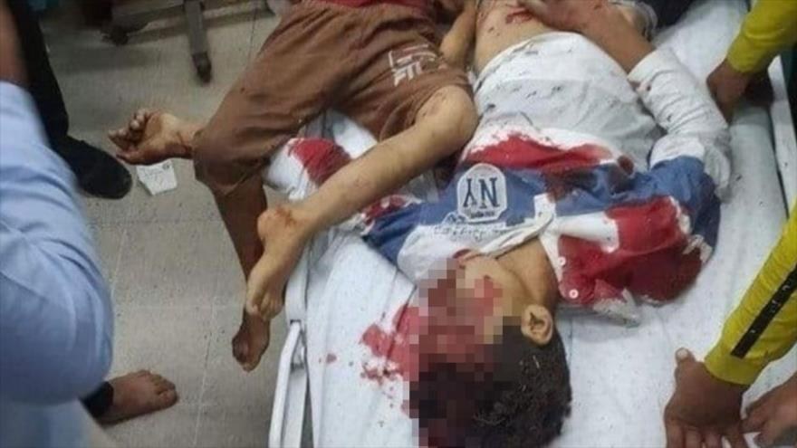 Niños palestinos muertos en ataques israelíes en la Franja de Gaza, 10 de mayo de 2021.