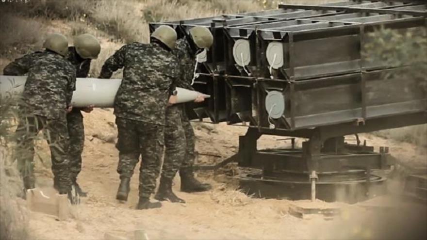 Misiles de las Brigadas de Ezzedin al-Qassam, brazo militar de HAMAS, en posición de espera para atacar.
