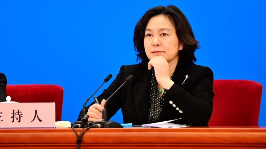 La portavoz del Ministerio de Asuntos Exteriores de China, Hua Chunying.