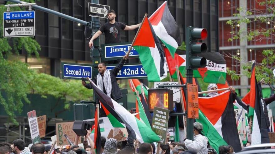 """""""Palestina será libre"""": Desde EEUU condenan atrocidades de Israel"""