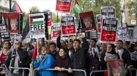 Londinenses, airados por complicidad británica en crímenes de Israel