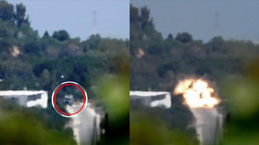 Vídeo: HAMAS destruye vehículo blindado israelí con misil antitanque