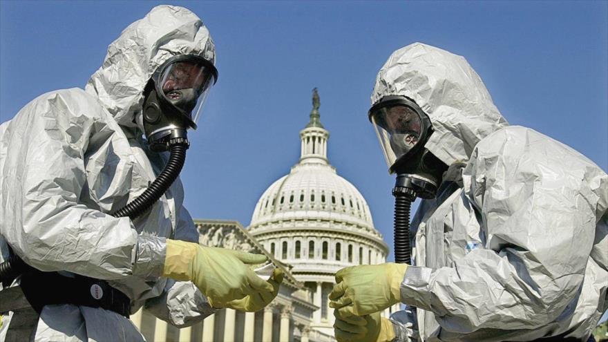 Fuerzas de Respuesta a Incidentes Químicos y Biológicos de la Infantería de Marina de los EE.UU. limpian el ántrax, un arma biológica potencial. (Foto: AP)