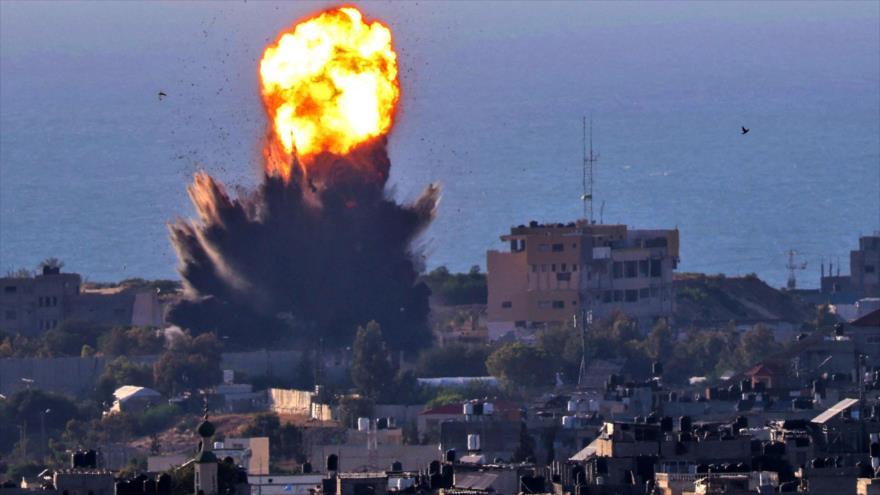 Israel ataca la Franja de Gaza, 13 de mayo de 2021. (Foto: AFP)