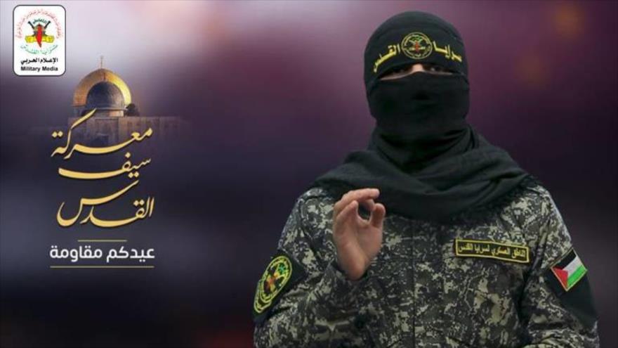 Abu Hamza, portavoz de las Brigadas Al-Quds, rama militar de la Yihad Islámica Palestina.
