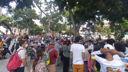 Gritan en Caracas: Venezuela, siempre al lado del pueblo palestino