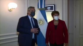 Fernández se reúne con jefa del FMI para abordar deuda argentina
