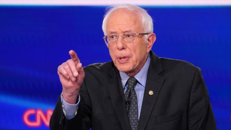 El senador demócrata de EE.UU. Bernie Sanders en una rueda de prensa en Washington, 15 de marzo de 2020. (Foto: Reuters)
