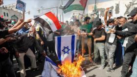 Iraquíes protestan contra EEUU y las atrocidades israelíes