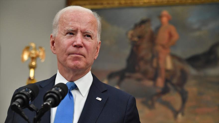 El presidente de EE.UU., Joe Biden, en la Casa Blanca, 13 de mayo de 2021. (Foto: AFP)