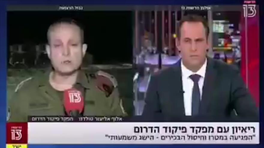 Vídeo: Militar israelí huye de ataque aéreo lanzado desde Palestina